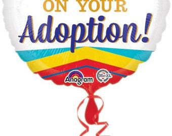 Congrats on your adoption balloon, gotcha day, adoption celebration balloon,