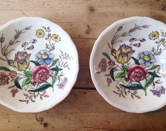 Set of 2 Copeland Spode Gainsborough dessert dishes made in England, vintage plates