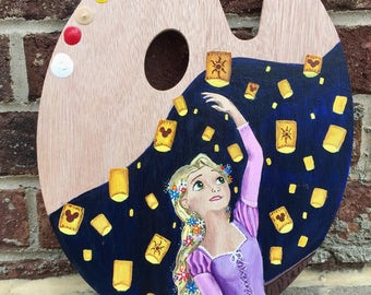 Disney Rapunzel painted palette