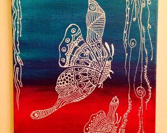 Butterflies/ henna design/ delicate