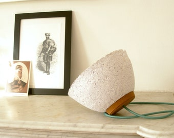 Modular lamp with white paper and cork