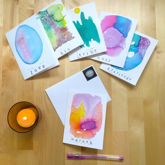 Humanness greetings   Set of 6 cards