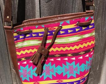 Handmade Organic Suede Leather handbag purse