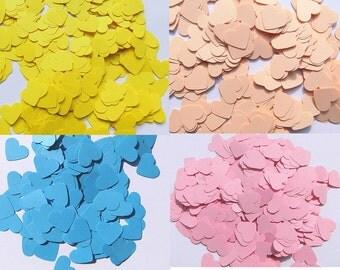 Confetti heart confetti 500 piece wedding confetti paper confetti hearts confetti heart salmon table decoration wedding confetti blue yellow pink