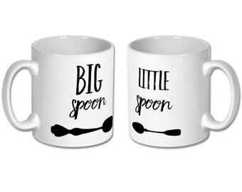 Big Spoon, Little Spoon Mug Pair