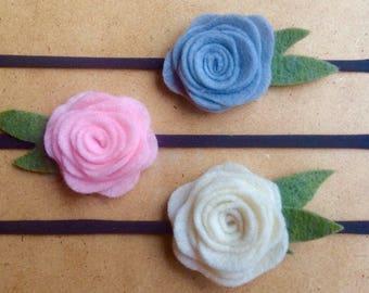 Baby headbands, felt headbands, flower headbands