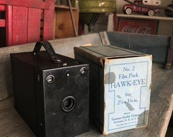 Kodak No 2 Film Pack Hawk-Eye with Original Box 1920s