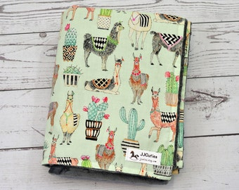 Minky llama baby blanket - Personalized Baby llama minky blanket - Llama blanket - Mint llama nursery - Llama blanket-Cactus blanket Nursery
