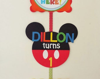 Mickey Mouse Welcome Sign