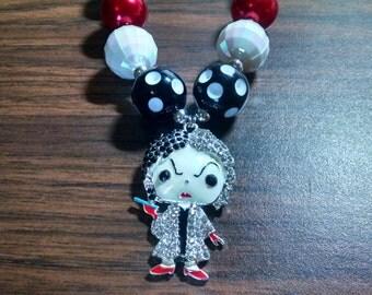 Dalmation Puppy Villain Cruella Girls Bubblegum Necklace