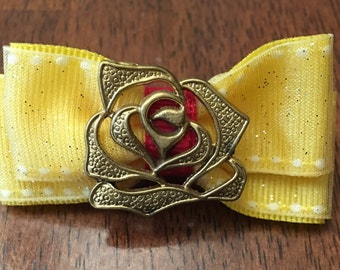 Belle themed magic band bow