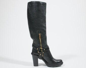 PRADA - leather boots