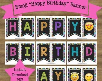Emoji Banner; Emoji Birthday Banner; Emoji Birthday Decorations; Emoji Decorations; Emoji Decor; Emoji Birthday Decor; Emoji Birthday Party
