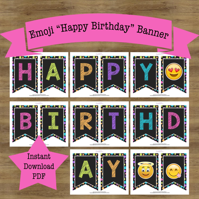 Emoji Banner Emoji Birthday Banner Emoji Birthday