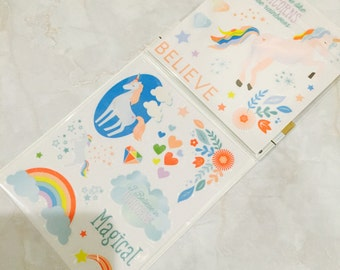 Recollections sticker.I love you like unicorns. Believe.Magical