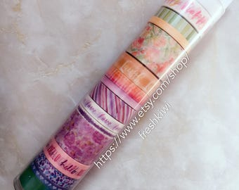 the paper studio washi tape. watercolor. floral. purple flower.Hello