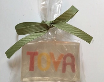 Personalized Soap Bar  Custom Soap Bar  Name in a Soap
