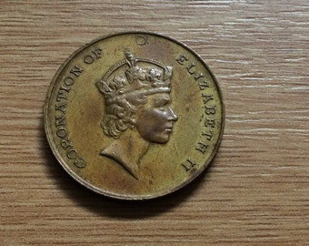 Coronation of Queen Elizabeth 2 Medal issued by the Lancashire Education Committe