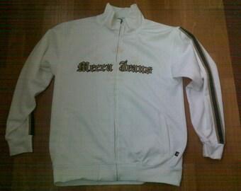 MECCA sweatshirt, white hoodie of vintage 90s hip-hop clothing, 1990s hip hop shirt, OG, gangsta rap, size L Large