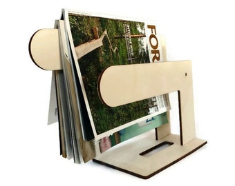 Laser cut wood magazine display,magazine rack,magazine stand,wooden magazine holder,magazine organizer,magazine storage,modern magazine rack