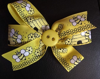 Yellow bumble bee  bow