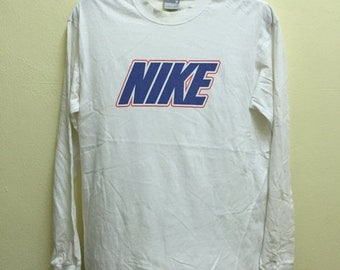 MEGA SALE 20% Clearance Stock!!! Vintage 90's Nike Air Classic Design Spell Out Long Sleeve T-Shirt Sz M
