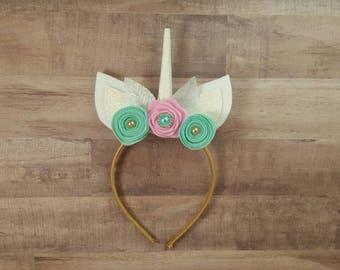 Birthday unicorn headband... Unicorn headband...unicorn party favor