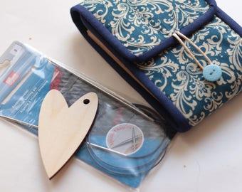 Circular needle case Knitting needles organizer Knit needle storage pouch Knitter's Pride/KnitPro/Addi/Clover/ChiaoGoo Gift for knitter
