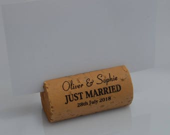 Personalized Wine Cork Place Card Holders Model 1