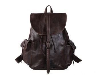 Handmade Vintage Leather Backpack Univercity College Backpack School  Backpack, Leather Rucksack, Travel Backpack