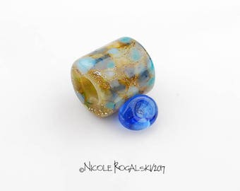 Big Hole Glass Bail - Handmade Lampwork Glass Beads