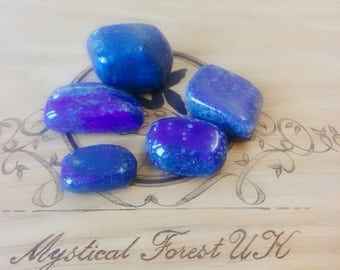 Lapis Lazuli Tumble stones, Lapis Lazuli Crystal, Meditation, Reiki Charged, Healing Crystals, Communication and self expression