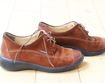 Mobils ladies vintage comfort walking leather suede boots US size 7.5