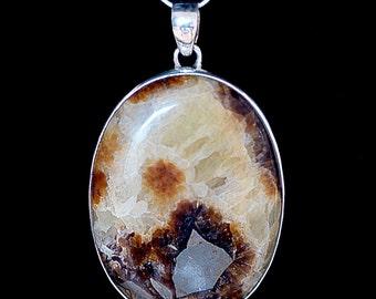 Septarian Pendant, Silver