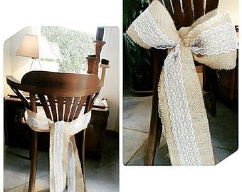 Knot in Burlap and lace