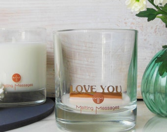 Love You Hidden Message Scented Candle