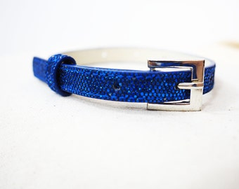 Blue Sparkle Recycled Bracelet/Cuff for your Scarf