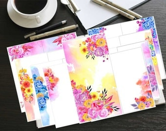 """Printable, Colored, BLANK """"Create"""" Journal. Total of 16 pages! **Size is 5.5x8.5**"""
