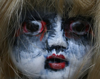 Mavis/altered doll/creepy doll/dark doll/gothic/horror/zombie/macabre