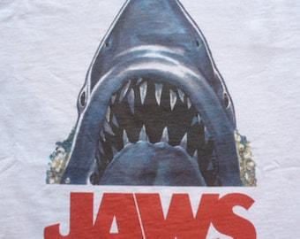 Jaws t-shirt classic movie shark mens ladies kids