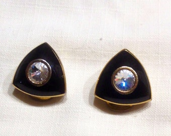 Loop clip, french vintage jewelry earrings