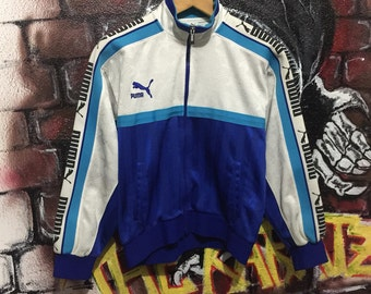 Vintage Puma Track Top Multi Colour Spell Out Logo Jacket