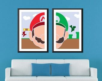 Mario Minimalist: Mario & Luigi Set