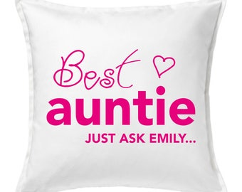 Personalised Best Auntie Cushion