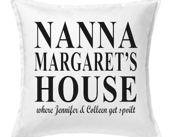Personalised Nanna House.. Cushion