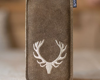 """Leather case """"Stag"""" for iPhone 6s and other smartphones in the color of """"Sandy"""" in the MOOD"""