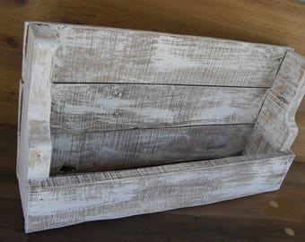 Reclaimed Wood Rustic Wine Rack Bottle Holder Country Primitive Farmhouse Cottage Beach House Decor Shabby Chic Distressed