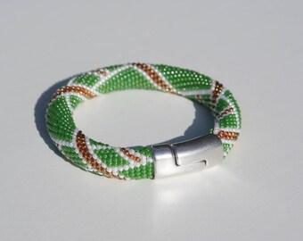"Beaded Bracelet ""Irish Colors"""