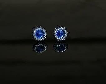 "Small Earrings ""Sapphire"""