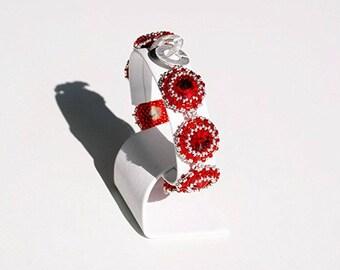 "Bracelet ""Carmen"" with SWAROVSKI Crystals LIGHT SIAM"